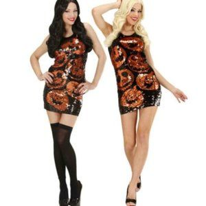 Sequin Pumpkin Dress